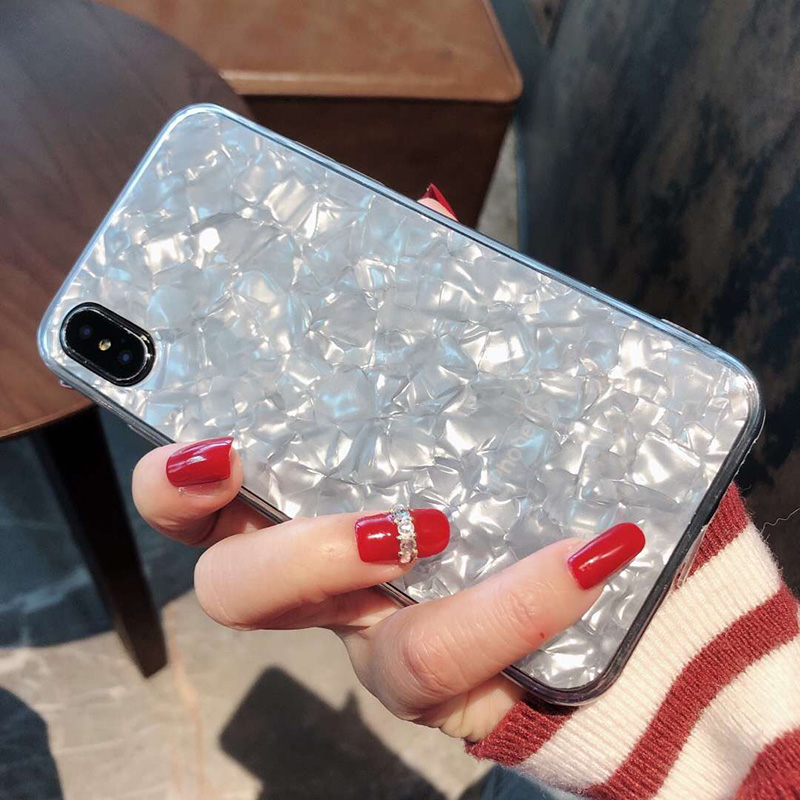 Tfshining Lovely Glitter Conch Pattern Phone Case For iPhone XS Max X XR 6 6s 7 8 Plus Fashion Soft Shell Protective Case Cover (7)