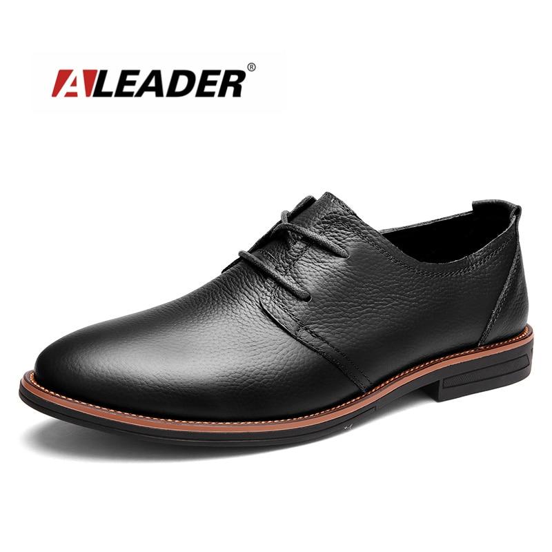 Leather Mens Dress Shoes 2016 Fashion Lace Up Casual Oxfords Men Genuine Leather Shoes Designer Formal Shoes Sapatos sapatilha aleader casual men genuine leather shoes fashion autumn hade made designer shoes dress shoes sapatos masculinos