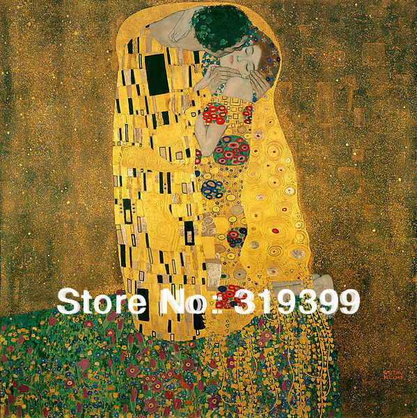 Oil Painting Reproduction on linen Canvas,The Kiss by gustav klimt,100% handmade,Free fast Shipping,Museam QualityOil Painting Reproduction on linen Canvas,The Kiss by gustav klimt,100% handmade,Free fast Shipping,Museam Quality