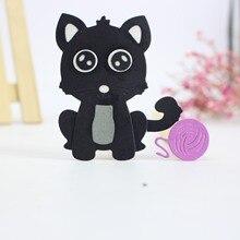 ZhuoAng Little black cat Cutting mold DIY scrapbook album decoration supplies clear seal paper card