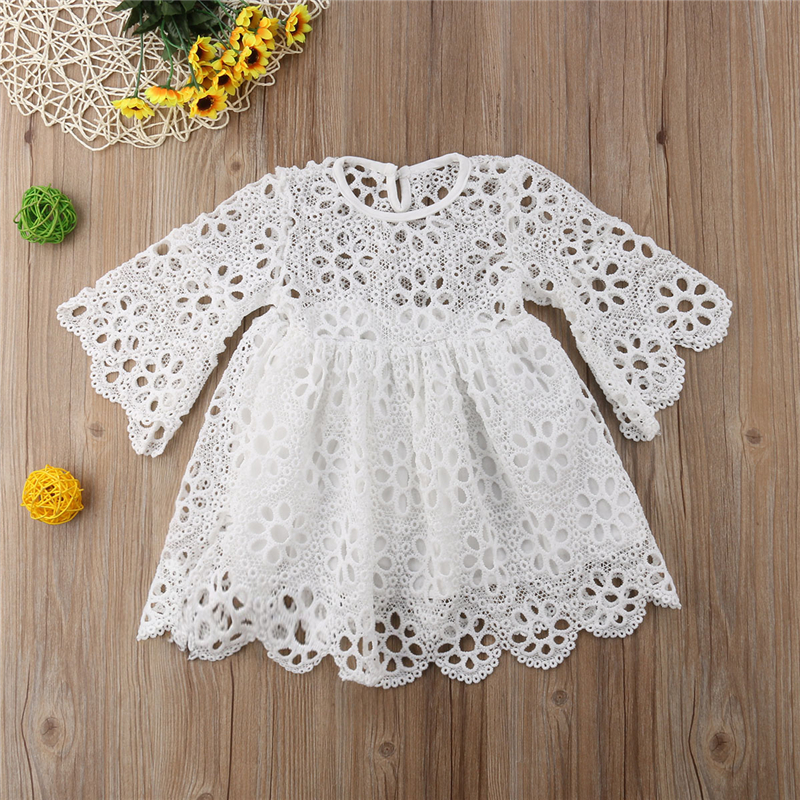 Family Clothes Mother Daughter Women Kid Baby Girl Long Sleeve Lace Dress Summer