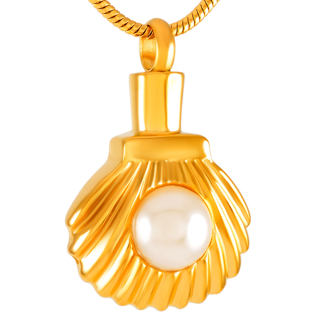 Shell with Pearl Memorial Necklace