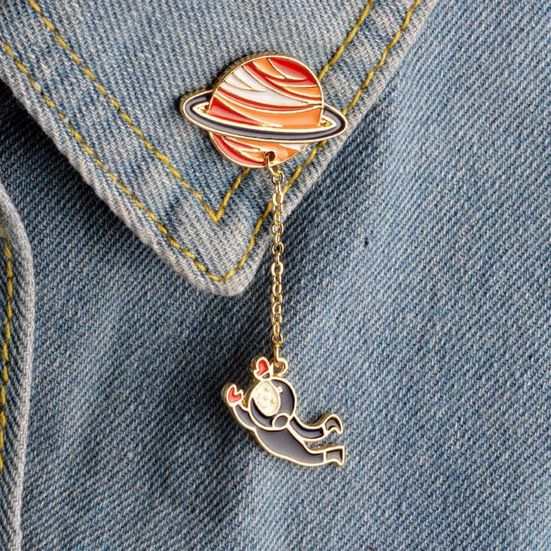 New Fashion Astronauti Terra Acrilico Distintivi Pins Fit Bag Packbag Decorazione Animale Coniglio Ragazza Spilla per L'abbigliamento