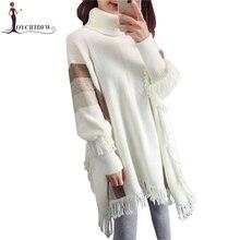 цена на Women Turtleneck Sweater Tassel Bat Sleeve Pullover 2018 Fall/Winter New Turtleneck Pullover Sweater Female Knit Sweater Top 627