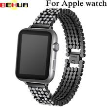 Bracelet for apple watch band 38mm Women Luxury Diamond Stainless Steel Strap Wrist Belt For iwatch strap Series 3 2 1