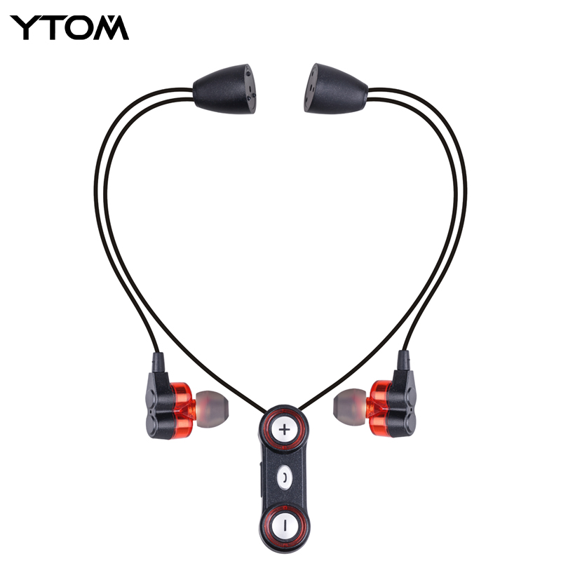 YTOM Bluetooth Headset Headphones Dynamic Dual Unit Drivers Wireless Bluetooth 4.1 Earphone