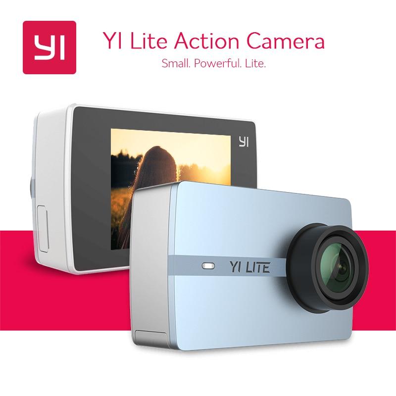 """В наличии! Yi Lite действие Камера Hisilicon hi3556 4 К спортивные Камера 2 """"ЖК-дисплей Сенсорный экран Bluetooth Dual Band Wi-Fi 150 градусов EIS"""