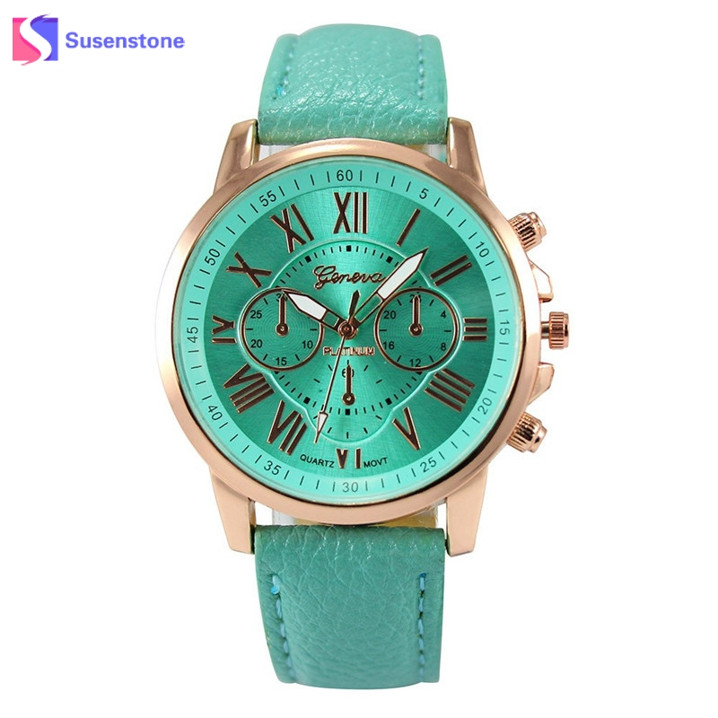 Fashion Watch Men Women Roman Numerals Faux Leather Analog Quartz Wrist Watches Ladies Clock Quartz-Watch relogio feminino 2017  hot luxury brand geneva fashion men women ladies watches gold stailess steel numerals analog quartz wrist watch for men women