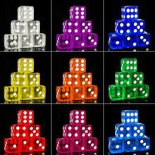 10 шт. 16 мм кубические прозрачные красочные изысканные игральные кости Коллекция украшения высококачественные игральные кости #16