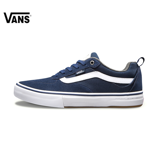 Original VANS New Men Shoes Skateboarding Shoes Sports Canvas Shoes Sneakers Low-top Leather Stitching Flat Vans Shoes for Men original vans black and blue gray and red color low top men s skateboarding shoes sport shoes sneakers