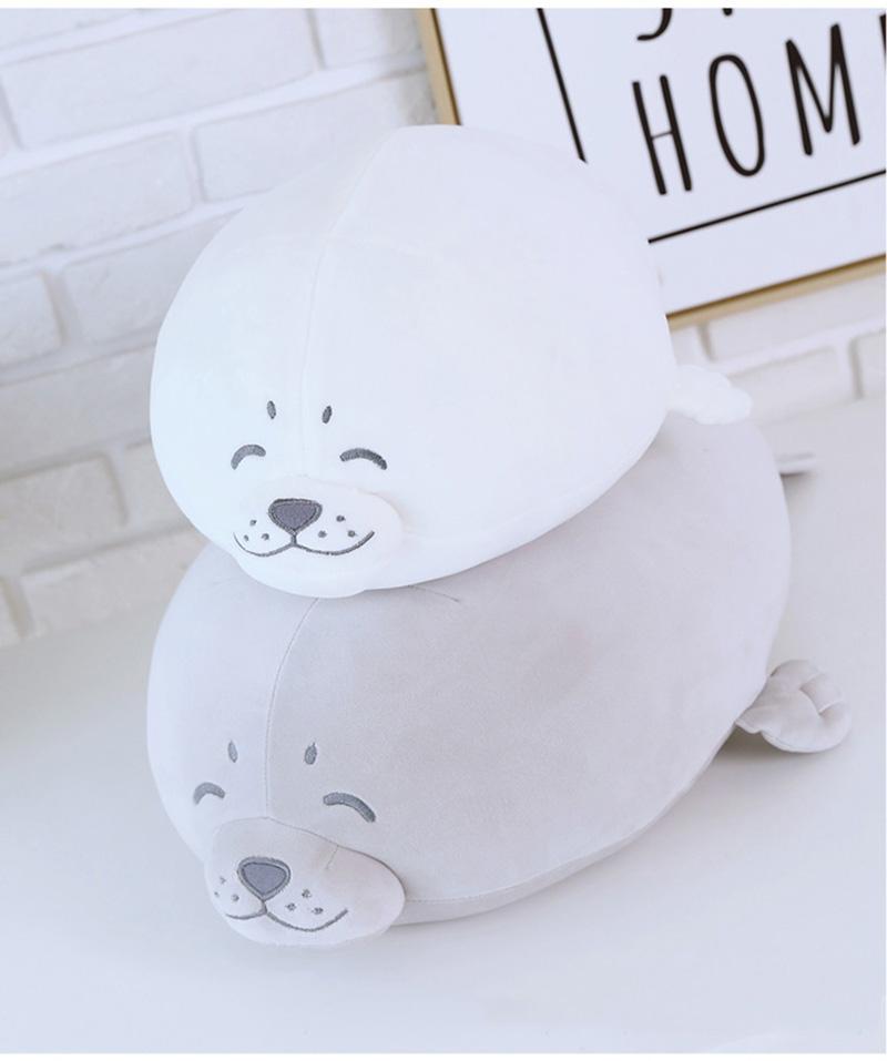 1pcs Cute Soft Animal Sea Lion Doll Baby Sleeping Pillow Marine Animals Seal Plush Toy Kids Stuffed Toys Gift (3)