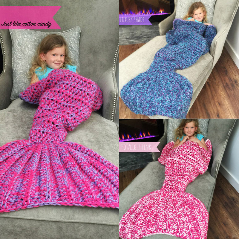 Super Handmade Adult Crocheted Mermaid Tail Blanket Cocoon Knit