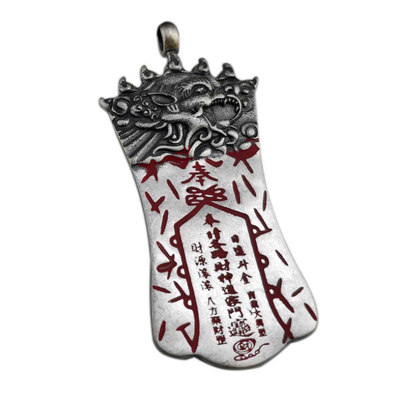 Pur argent Sterling 925 argent hommes Thai argent Vintage amulette pendentif bijoux (HY)