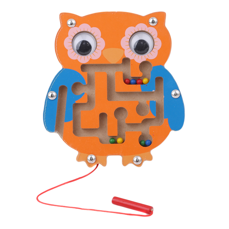 цена на Children Magnetic Maze Toy Kids Wooden Puzzle Game Toy Kids Early Educational Brain Teaser Wooden Toy Intellectual Jigsaw Board