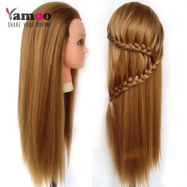 Célèbre Professionnel 68 cm Blonde coiffure poupées tête de Femme  UN52
