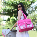 Stylish floral baby diaper bag shoulder Messenger multifunctional mother mummy stroller bag maternity bags