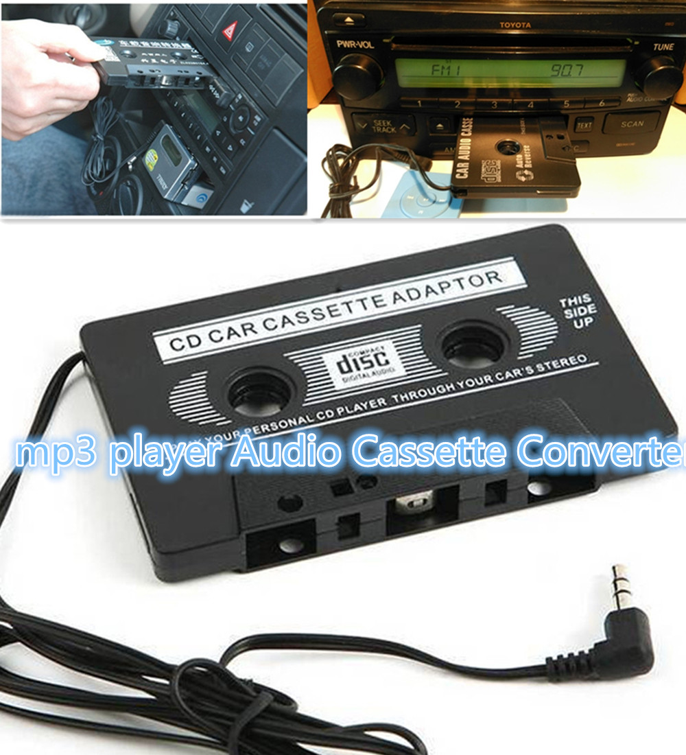 Audio Car Cassette Tape Adapter Converter Cd Mp3 Player Kaset Casete Adaptor Mobil 35 Mm For Lphone Android Nano Smart Phone Aux In Recorder From