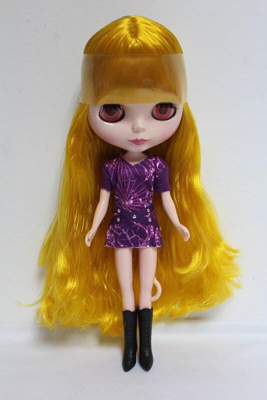 Free Shipping big discount RBL-63DIY Nude Blyth doll birthday gift for girl 4 colour big eyes dolls with beautiful Hair cute toy