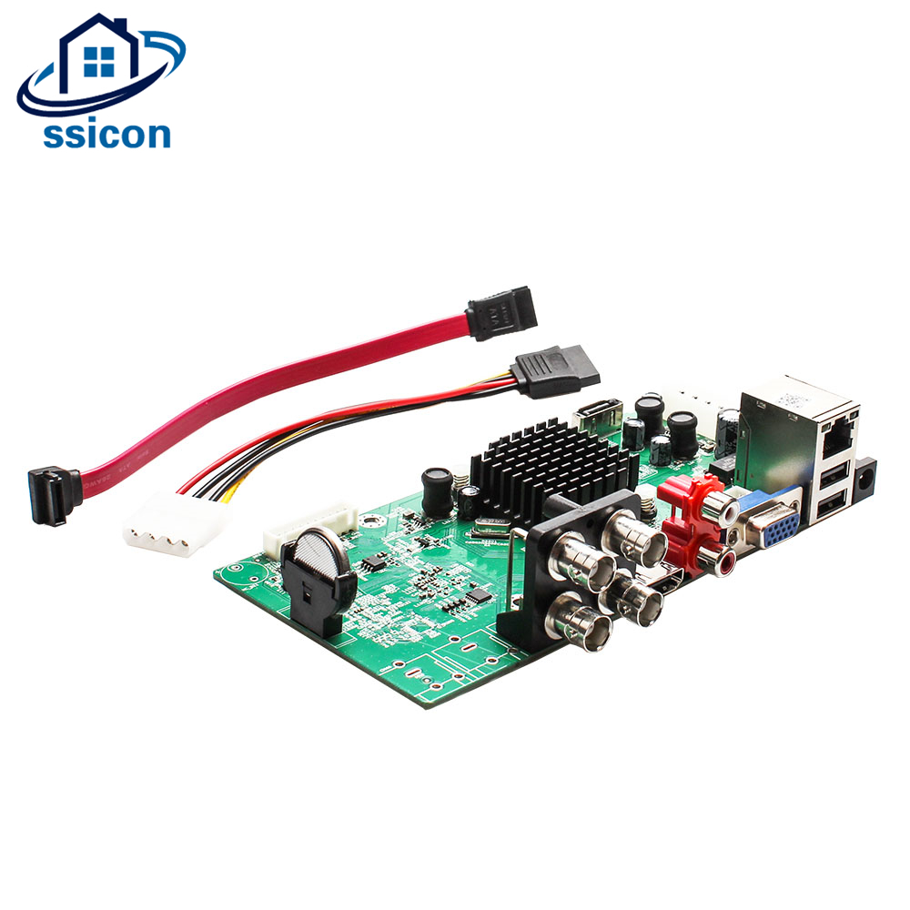 SSICON 4CH DVR Hybird NVR Board 4Channel 1080N Surveillance Security CCTV Recorder Board With HDD Cable for 1080P Analog CameraSSICON 4CH DVR Hybird NVR Board 4Channel 1080N Surveillance Security CCTV Recorder Board With HDD Cable for 1080P Analog Camera