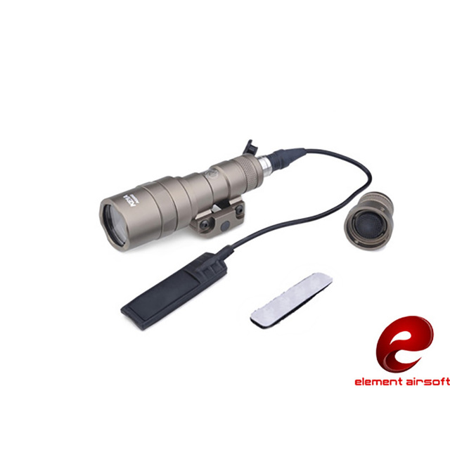 Element Airsoft Softair SF M300B Scout Tactical Weapon Flashlight Aluminum New Version For Hunting 250LM Output LED EX358