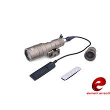 Element airsoft SMSR? SF M300B Scout arma táctica linterna de aluminio de la nueva versión para la caza de 250LM LED de salida EX358
