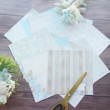 24 sheets DIY 12 style 15.2*15.2cm lake wood house theme craft paper scrapbooking creative gift use
