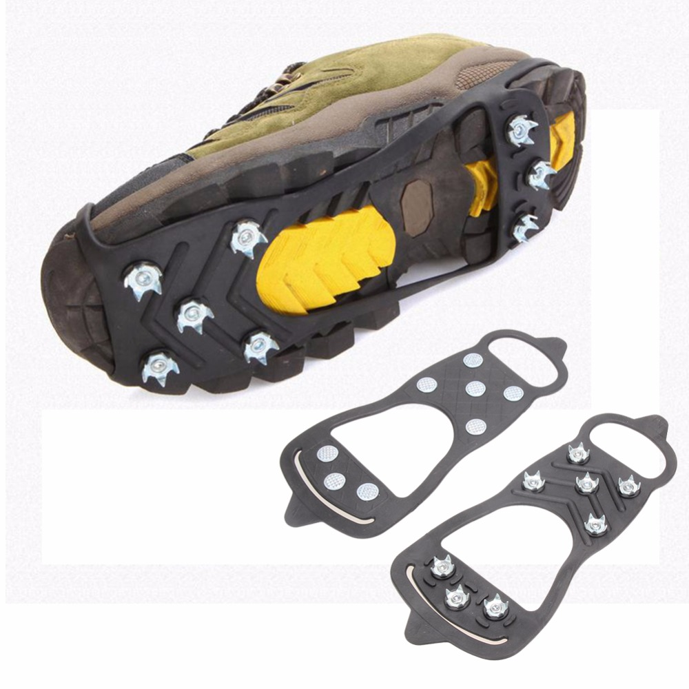 1 Pair Professional Climbing Ice Crampon 8 Studs Anti Skid Ice Snow Camping Walking Shoes Spike