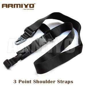 Armiyo Tactical 3 Point Gun Shoulder Straps Rifle Belt Bungee AK m16 Harnesses Mission Sling Hunting Pouches Accessories(China)