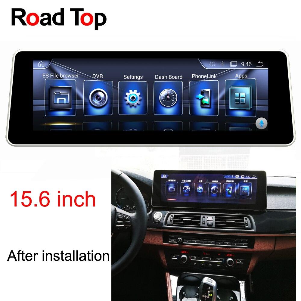 15.6 Android 6 Autoradio GPS Navigation Tête L'écran D'unité pour BMW F10 F11 520i 523i 528i 530i 535i 550i 518d 520d 525d 530d 535d