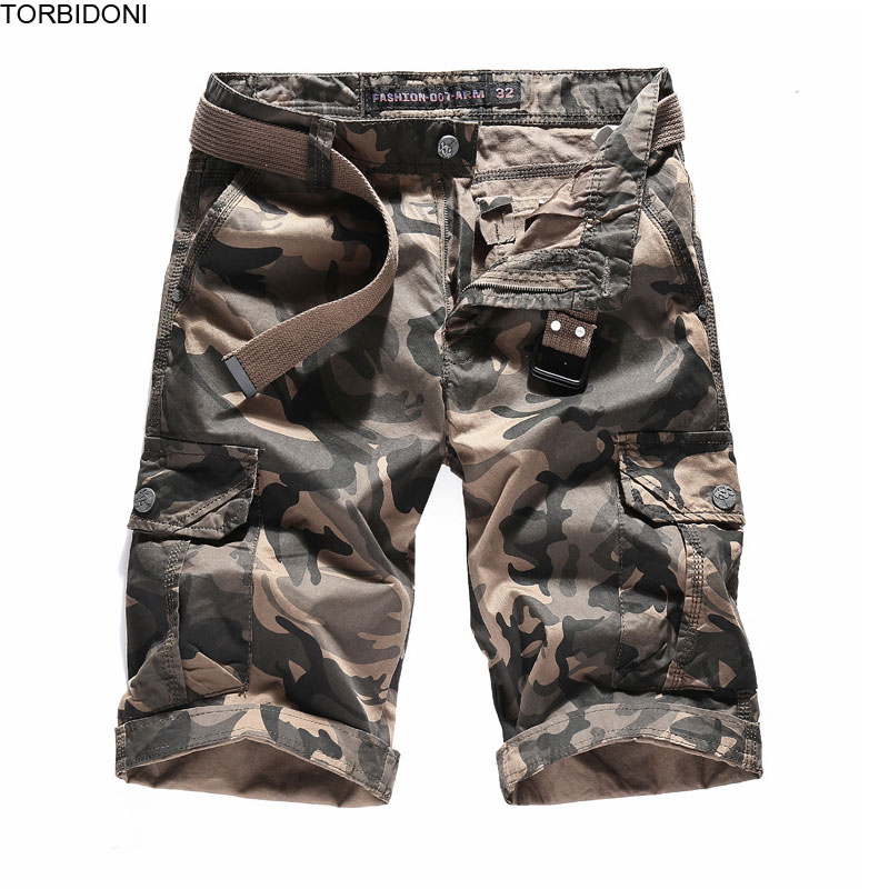Cotton Cargo Shorts Men New Camouflage Loose Cool Summer Military Camo Short Pants Casual Bermuda Homme Pantalon Corto Hombre