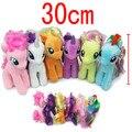 12'' 30CM 30Pcs/lot EMS Free Shipping Big Unicorn Plush Toys Cartoon Stuffed Kids Little Horse Dolls Rainbow Horse Animal Dolls