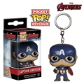 Action Figures Marvel Funko Pop Game of Thrones Jon Snow Keychain Deadpool Captain America funko the walking dead Car key chain