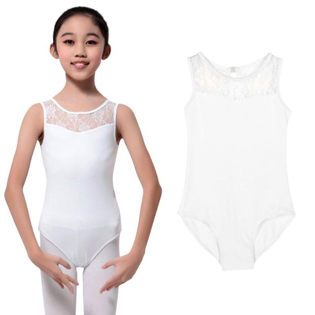 bc62a86ffc17 Girl's Ballet Dancewear Cotton Lycra Lace Tank Dance Leotard with Open Back  Ladies Costume Bodysuit Black/ White-in Ballet from Novelty & Special Use  on ...