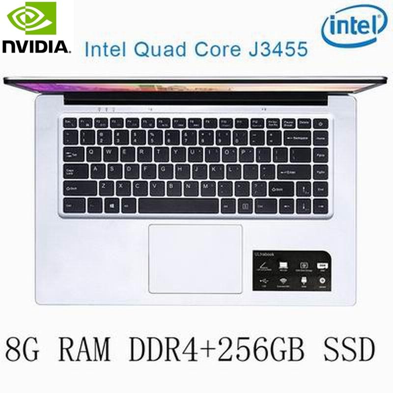 8g ram P2-35 8G RAM 256G SSD Intel Celeron J3455 NVIDIA GeForce 940M מקלדת מחשב נייד גיימינג ו OS שפה זמינה עבור לבחור (1)