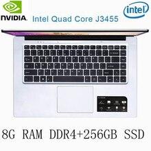 P2-35 8G RAM 256G SSD Intel Celeron J3455 NvIDIA GeForce 940M Gaming laptop keyboard and OS language available for choose