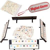 Новые оригинальные портативные вечерние настольные игры с цифровым дисплеем, Израиль, маджонг, быстро движущаяся руммическая плитка, семей...