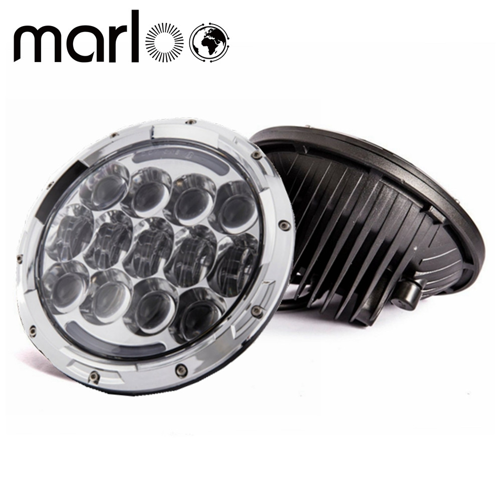 Marloo 7 Inch Round 105W Hi/Lo Beam LED Headlights With Daytime Running Light (DRL) For Jeep Wrangler JK TJ LJ 1997 - 2017