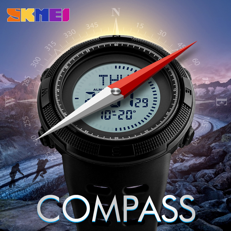 Frugal Skmei Brand Fashion Compass Digital Wrist Watch Men Waterproof Military Outdoor Sport Watches For Mens Montre Homme Male Clock High Quality And Low Overhead Men's Watches