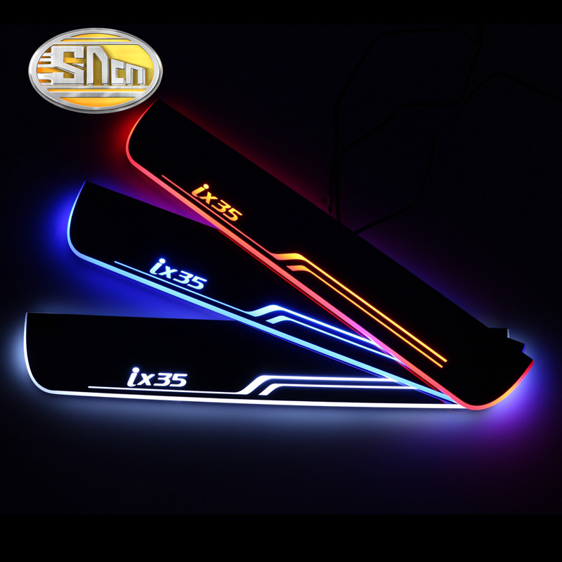 Fashionable Waterproof Ultrathin Acrylic LED Welcome Scuff Plate Pedal Door Sill For Hyundai IX35 2010 2015