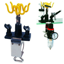 New Airbrush Holder Holds 4 Clamp-On Mount Table Bench Station Gravity Stand Kit