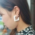 Squire Earrings Geometry Cube Earrings Korean Fashion Jewelry for Woman