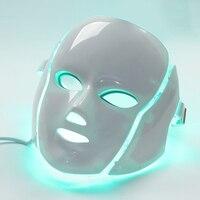7 цветов Светодиодная маска для лица электрическая светодиодный маска для лица Кожа pdt омоложение кожи анти акне, морщины удаление терапевт