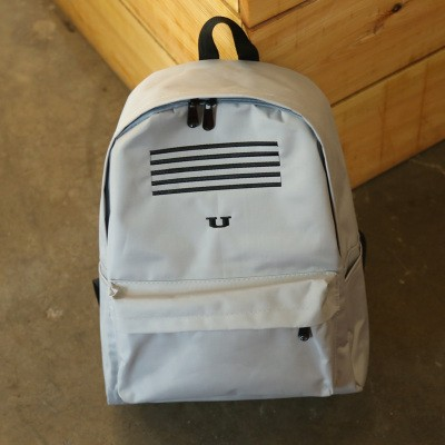 New Fashion Preppy Style Korean Travel Canvas Backpack Women Striped Printing Letter Rucksack Teenage Girl Brand