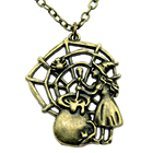 Spider Cobweb Witch Necklace Vintage Spider Cobweb Witch Long Necklace Spider Cobweb Witch Pendant Necklaces For Women