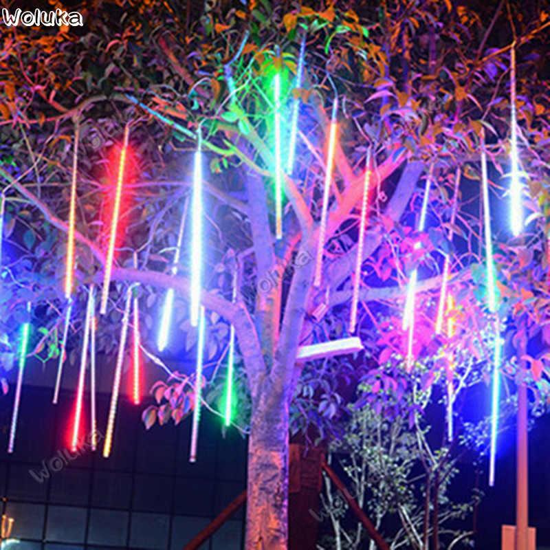 Светодиодный Метеоритный Душ Набор светодиодных ламп 30 см 50 см садовое, Рождественское украшение двухсторонняя Соединительная труба CD50 W03