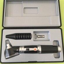 Új professzionális Otoscopio Diagnositc Kit orvosi fülbevaló LED fehér fény Portable Otoscope ingyenes szállítás
