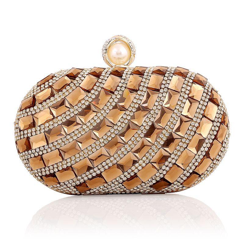 2017 Femme De Luxe Diamants Dîner Paquet Forage De Bal Banquet Sac Dîner D'embrayage De Mariage de Soirée de Femmes Sacs Petits Diamants Bourse