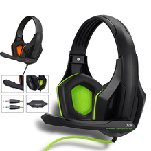 Gaming Headset Wired PC Stereo Bass Over-ear Headphones With Microphone For PC Mobile Phone Mp3 Tablet Game casque Earphone