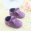 Toddler Shoes Soft Bottom Non-slip Shoes Baby Toddler Shoes Fringed Purple Female Baby Shoes 2016 New WMC249