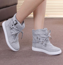 New arrival plus size 35-41 vintage canvas shoes woman solid lace up fashion ankle boots ladies top quality women's autumn boots